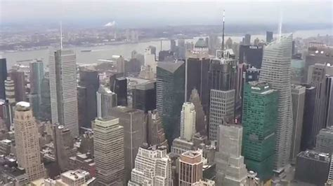 new york desde el 8477826978 vista desde el mirador del empire state building new york youtube