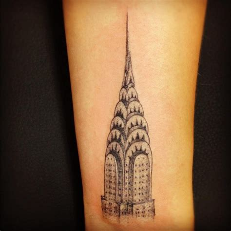 empire ink tattoo black ink real like empire state building