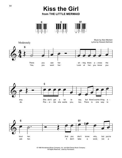 printable lyrics to kiss the girl kiss the girl sheet music direct