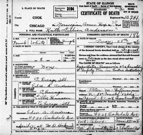 Cook County Genealogy Records Deaths Connie Nelson S Genealogy Records Index