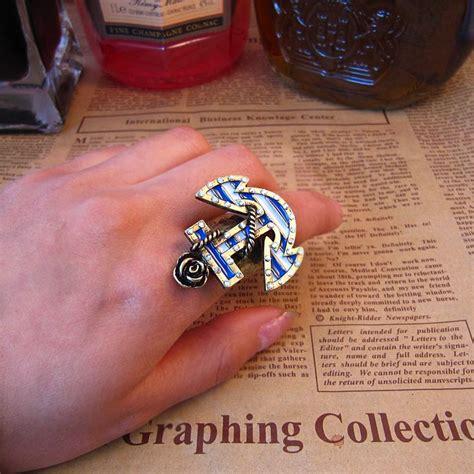 wedding bridal jewellery swarovski diamond sailor anchor