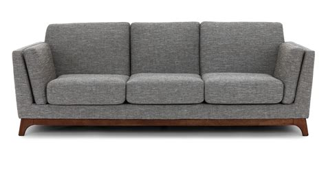 Gray Sofa Timber Pebble Gray Sofa Sofas Article Modern Mid