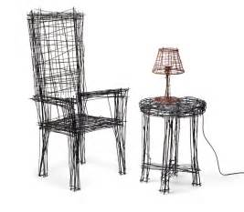 drawing of a chair jinil park materializes drawing furniture series using wire