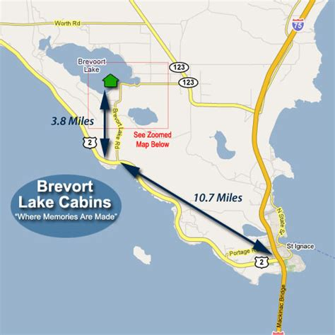 Brevort Lake Cabins by Directions Brevort Lake Cabins
