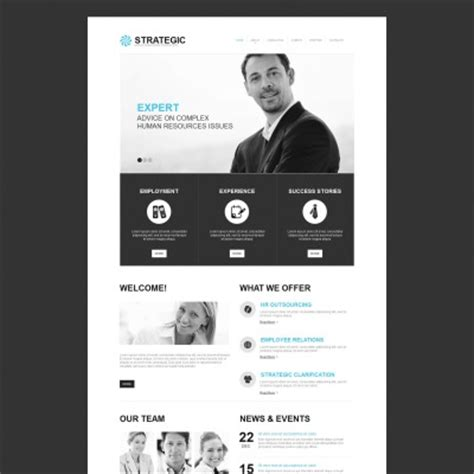 Job Portal Templates Templatemonster Human Resources Website Templates