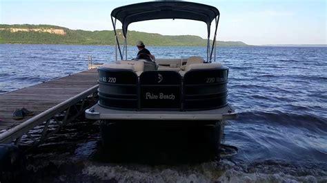 pontoon boats palm beach 2014 palm beach pontoon sea legs going up youtube