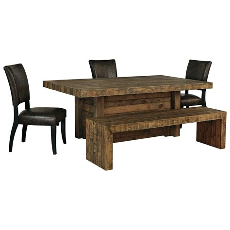 ashley furniture bench dining ashley signature design sommerford 5 piece table set with