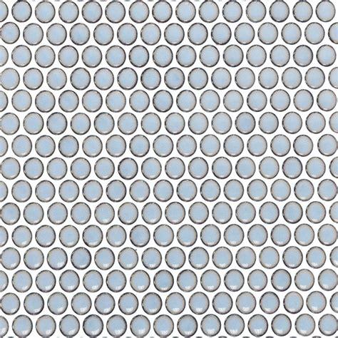 Ceramic Tiles For Kitchen Backsplash Eden Rimmed Cloudy Sky Penny Round Polished Ceramic Tile