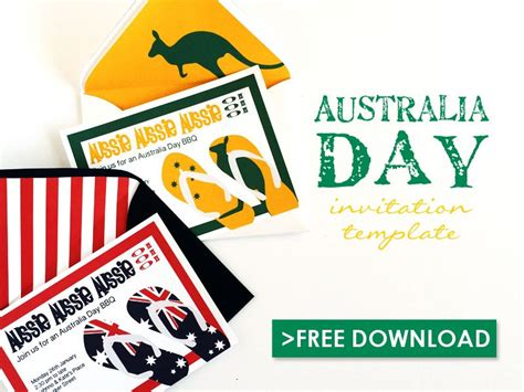 printable invitations online australia free australia day invitation template download print