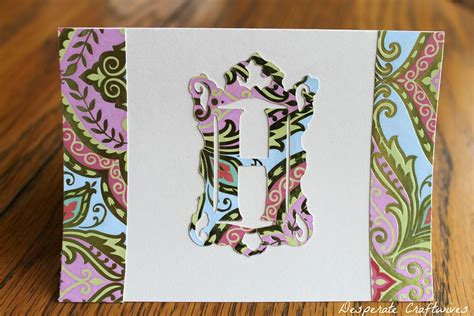 I Found A Gift Card And Used It - desperate craftwives monogram note card gift