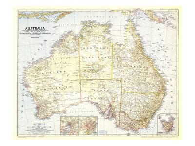 australia map prints  national geographic maps  allposterscom