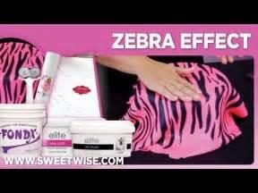 zebra pattern fondant cutter zebra stripe by www sweetwise com youtube