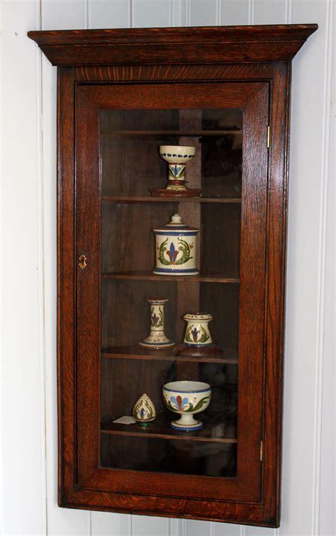 small oak wall cabinet small solid oak corner wall cabinet antiques atlas