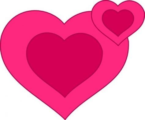 clipart cuori due cuori rosa insieme clipart scaricare vettori gratis
