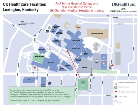 kentucky hospitals map map to uk healthcare facilities and parking locations ccts