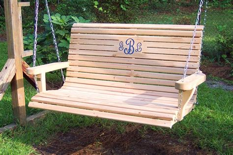 wooden bench swing wooden porch swing free shipping by weaverwood on etsy
