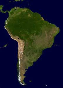 large satellite map of south america south america large