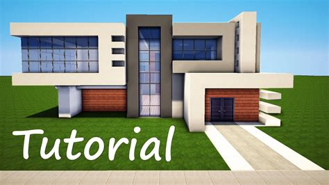 minecraft modern house tutorial minecraft how to build a modern house best mansion 2016