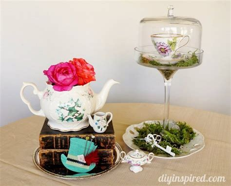 Budget Vintage Mad Hatter Tea Party Ideas Diy Inspired Mad Hatter Tea Centerpieces