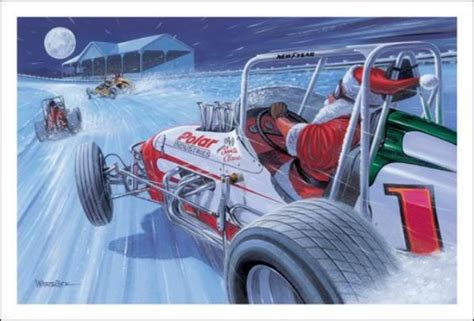 merry christmas sprint car santa christmas cards pinterest cars dirt track  dirt track