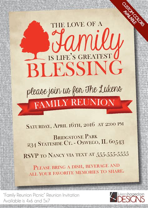 family reunion invitation card sle 4k wallpapers