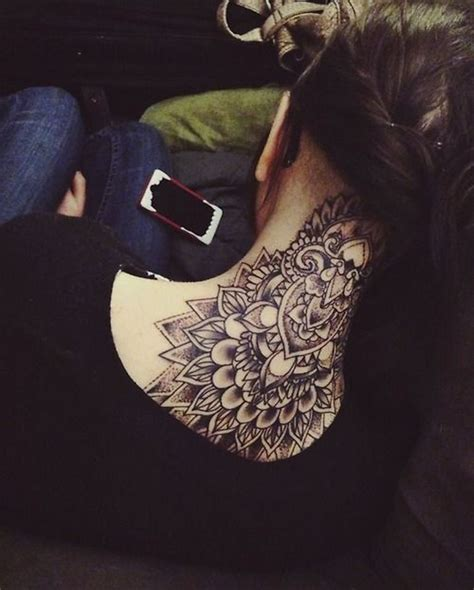 tattoo design for back of neck 63 attractive mandala neck tattoos