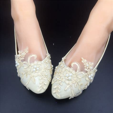 Ivory Bridesmaid Shoes by Chagne Lace Bridesmaids Shoes Rhinestone Bridal Shoes