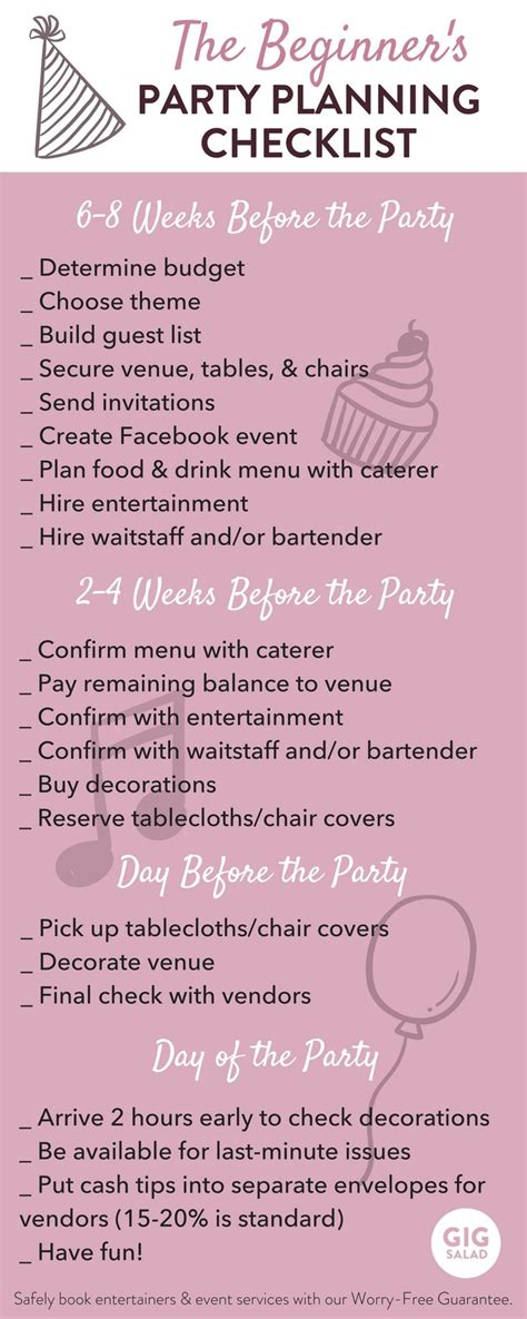 5 best images of party event printable planner party best 25 party planning checklist ideas on pinterest