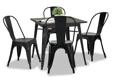 Antique Black Dining Table Modus Metal Dining Table Antique Black Dining Set 1 4 Furniture Home D 233 Cor Fortytwo