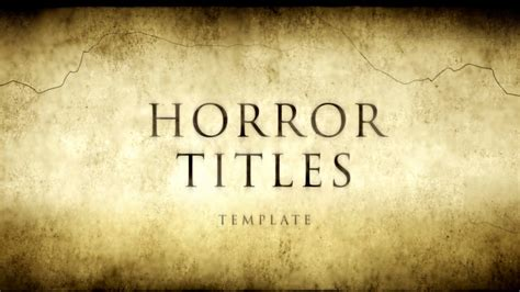 powerpoint templates free download horror horror movie titles after effects template youtube
