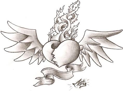 imagenes de corazones alas pics for gt corazones con alas blanco y negro