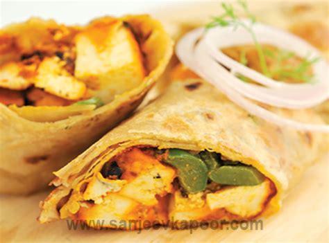 paneer kathi roll recipe vegetarian mix veg with paneer by sanjeev kapoor