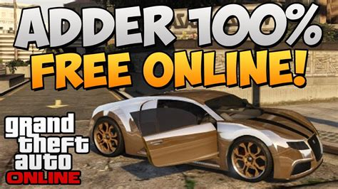 how to get the bugatti in gta 5 gta 5 how to get insure the adder quot bugatti quot for
