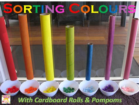 color activities for toddlers sorting colours with cardboard learning 4