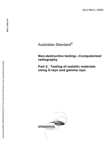 2168.2-2009 Computerized Radiography Testing of Mettalic