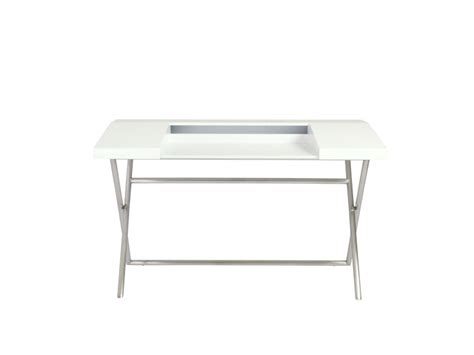 Stainless Steel Office Desk Cruise Office Desk 90838wht White Stainless Steel By Eurostyle