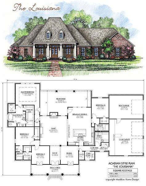 french style floor plans madden home design acadian house plans french country