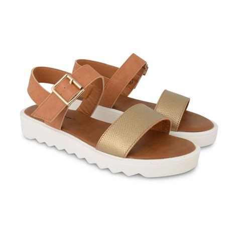 comfortable and stylish sandals new womens ladies dunlop stylish comfortable open toe