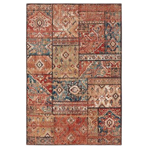 Rugs Ta Bay Area Mohawk Home Gemma Gold 5 Ft X 7 Ft Area Rug 564704 The Home Depot
