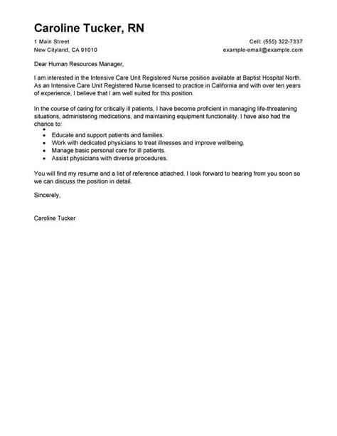7 cover letter example for nurses prome so banko