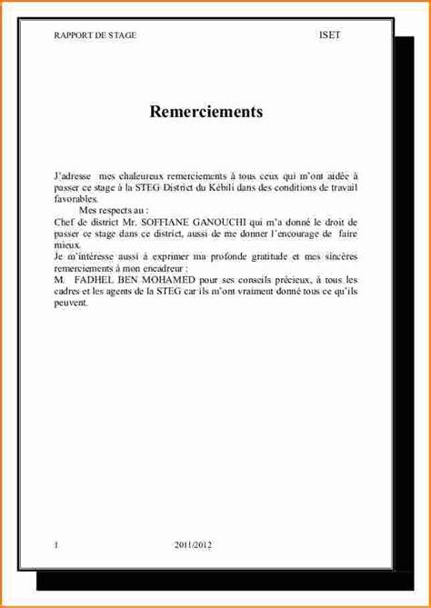 Exemple De Lettre De Remerciement Rapport De Stage 11 Lettre De Remerciement Rapport De Stage Exemple Lettres