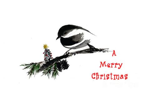chickadee tree  merry christmas wishes ecards greeting cards
