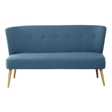 Blue Banquette by 2 Seater Fabric Banquette In Petrol Blue Cliff Maisons