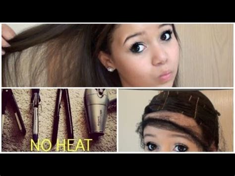 hairstyles for straight hair without heat straight hair with no heat krazyrayray youtube