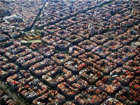barcelona from above symmetrical design of eixle barcelona i like to