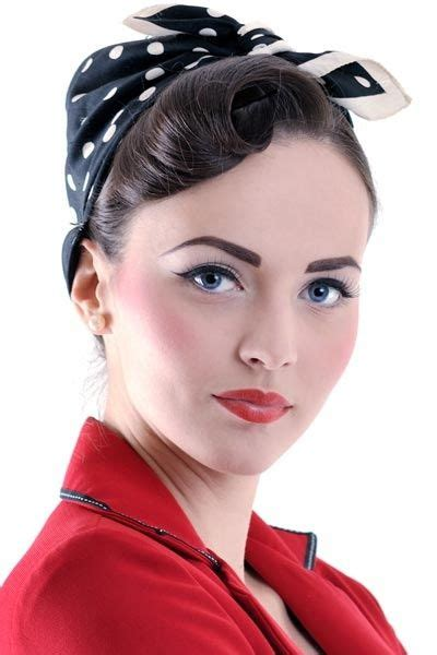 how to do rockabilly hairstyles with bandana vintage bandana hairstyles pin up girl rosie the