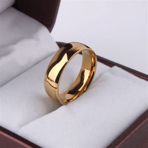 real gold plated classy plain wedding engagement ring price review and buy in saudi arabia