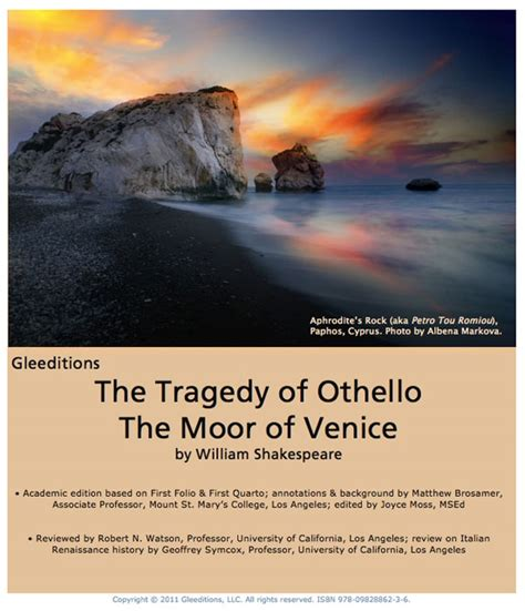 themes in othello the moor of venice gleeditions othello more details