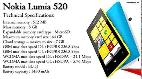 Hp Nokia Lumia 520 Detail Nokia Lumia 520 Price And Specifications