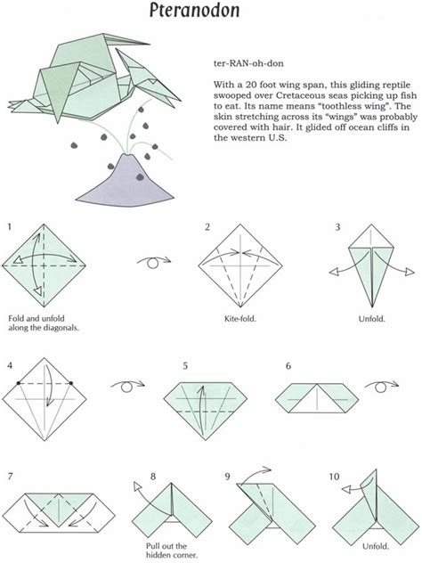 Easy Dinosaur Origami - origami pteranodon i should thought of this